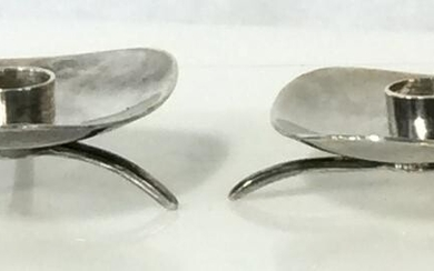Cohr Alta Silver Plated Candle Holders, Denmark