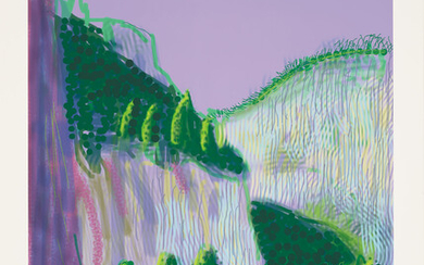 David Hockney, Untitled No. 11, from The Yosemite Suite