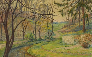 Elizabeth Fisher Washington (American, 1871–1953) By The River Signed...