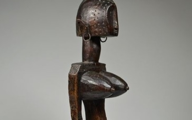 Female figure - Metal, Wood - Nyeleni - BAMANA / BAMBARA - Mali