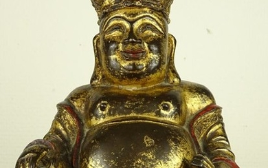 Figure of a seated Buddha- Gilt bronze - China - Ming Dynasty (1368-1644)