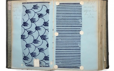 French Fabric Sample Book, early 20th century Including printed and...