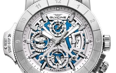 Glycine - Airman Airfighter Skeleton Chronograph- GL0053 - 3957.181.MB - Men - 2011-present