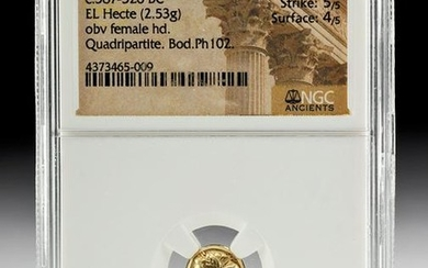 Greek Ionian Electrum Hecte, NGC Slab
