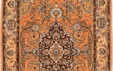 """Hand-knotted Tabriz 50L Coral Rug 4'0"""" x 6'0"""""""