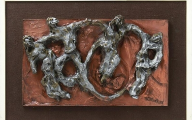 Illegibly Signed Mixed Metal Relief Sculpture