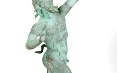 Italian Zinc Figure of the Dancing Faun