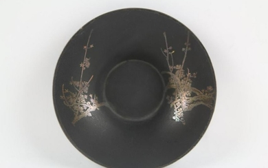 JAPANESE GOLD INLAID BRONZE MEIJI CHARGER