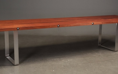 Jes Furdal. Large table-buffet in sipo mahogany and steel