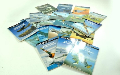 Large group of reference books relating to Aircraft.