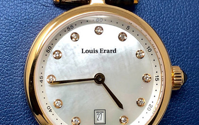Louis Erard - 11 Diamonds for 0,067 ct. Romance Collection White Mother of Pearl dial Swiss Made- 10800PR24.BRCA5 - Women - BRAND NEW