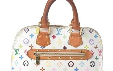 Louis Vuitton - Multicolor Alma White Clutch bag