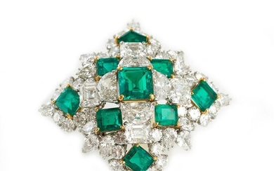 Magnificent Van Cleef & Arpels emerald and diamond brooch, Special Order