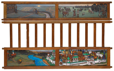 Maria Iakunchikova (1870-1902), Four side-panels from a child's bed