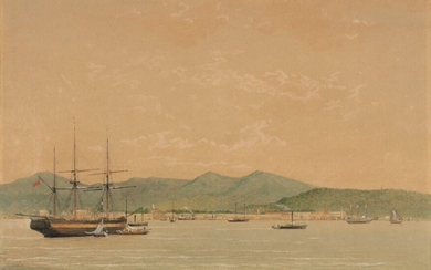 Michel Jean Cazabon (1813-1888), Port of Spain, from the Sea