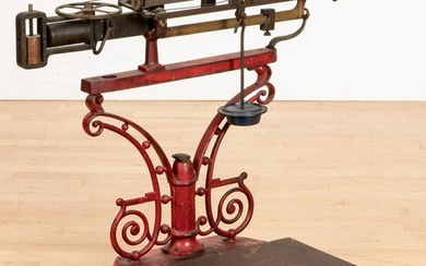National Scale Co. painted iron and brass scale
