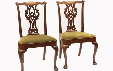 Pair Of Antique American Side Chairs 38 inches