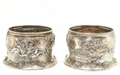 Pair of Tiffany Sterling Silver Renaissance Revival