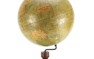 Philips 12inch terrestrial globe raised on a stained