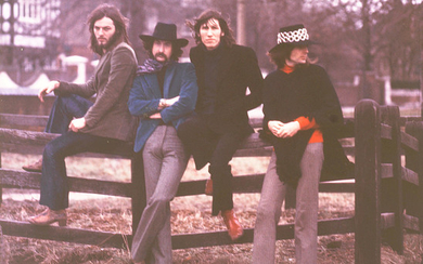 Pink Floyd: Eight colour photographs of the band, taken by Michael Randolph,