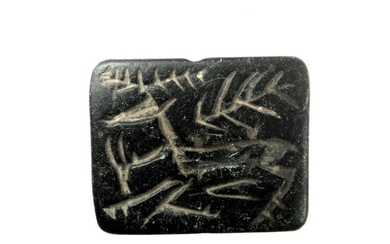 Prehistoric, Chalcolithic steatite Stamp seal / seal gable - 9×35×43 mm - (1)