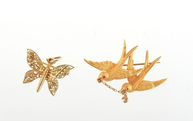 Property of a lady - an early 20th century 15ct yellow gold ...