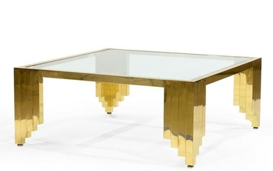 Regency Brass Waterfall Coffee Table