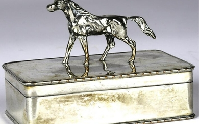 SHEFFIELD BOX with FULL FIGURED HORSE