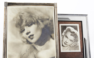 Signed Photos Ann Sothern & Anne Francis Movie Stars