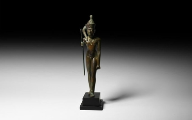 Statuette of the God Ihy with Gold Necklace