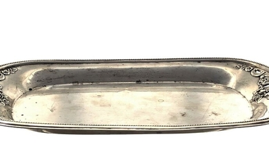 """Sterling silver oval shaped tray, """"Wallase"""", total weight 169gr,..."""
