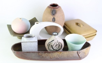Studio Pottery Vase with Other Ceramics incl. Denby Tureen