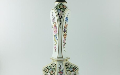 Table lamp in German porcelain