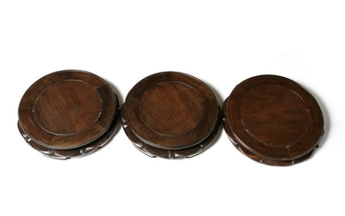Three Chinese Wooden Stands