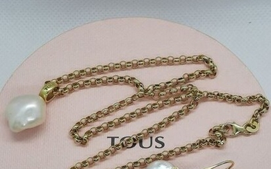 Tous Gold, Yellow gold - Earrings, Necklace, Pendant, Set Pearl