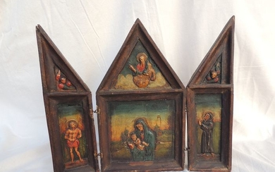 Triptych (1) - Wood - 18th century