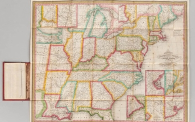 United States. James Hamilton Young (fl. circa 1830) Mitchell's Traveller's Guide through the United States. A Map of the Roads, Dist