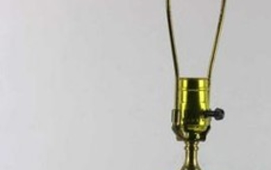 VINTAGE EMERALD CUT TO CLEAR GLASS CYLINDER LAMP