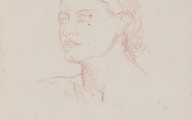 WOMAN'S HEAD OF PROFILE STUDY (Mrs WERNET?) Brown...