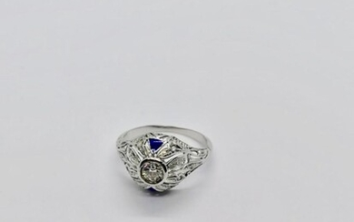 White gold and diamond ring Circa 1930
