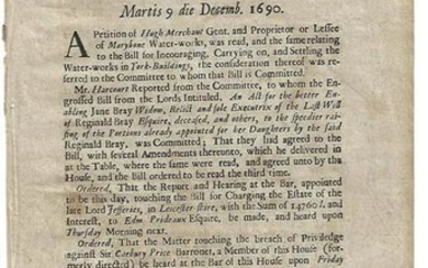 1690 Votes of House of Commons West Indies