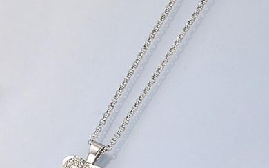18 kt gold MAUBOUSSIN necklace with diamonds