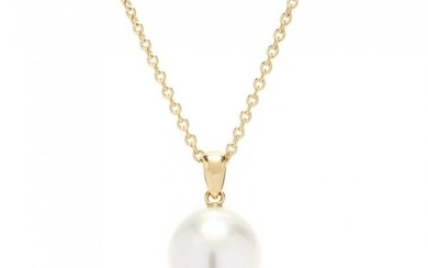 18KT Gold and South Sea Pearl Pendant Necklace
