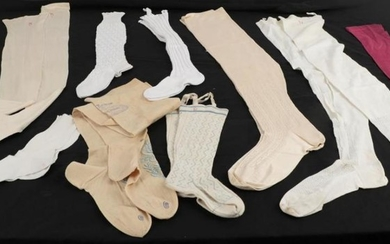 19th Century Ladies' and Children's Silk and Cotton Stockings, comprising...