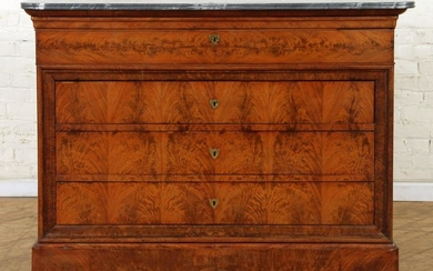 FRENCH CROTCH MAHOGANY LOUIS PHILIPPE COMMODE