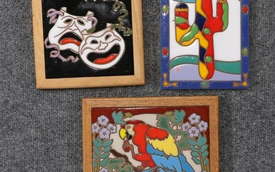 [3] Contemporary Enamel Novelty Wall Hanging Plaques