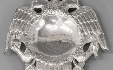 900 SILVER IMPERIAL DOUBLE-HEADED EAGLE DISH