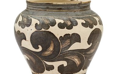 A CIZHOU BROWN-PAINTED JAR SONG DYNASTY