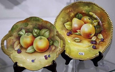 A COALPORT BOWL AND PLATE