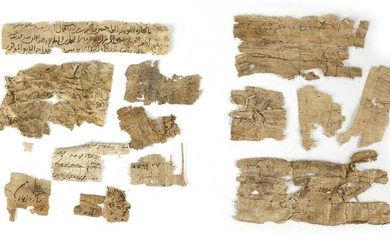 A COLLECTION OF PAPYRUS AND PAPER FRAGMENTS